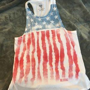 Brand New! Billabong American Flag Tank
